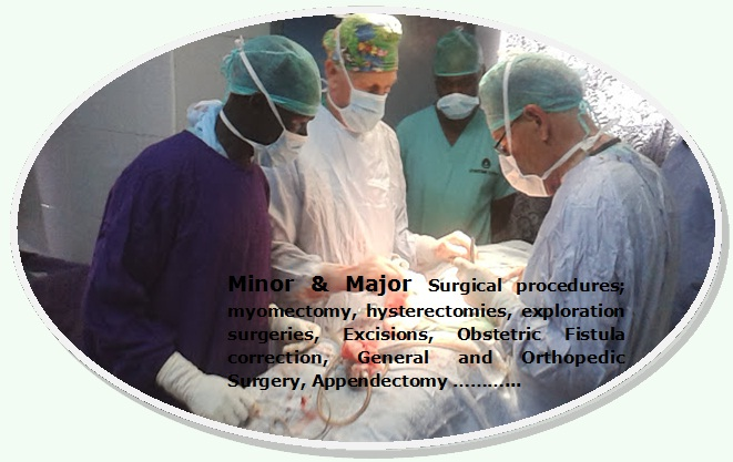 Minor and major surgeries